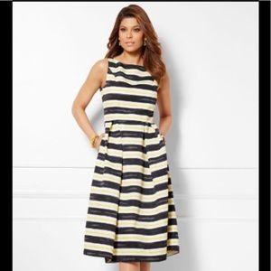NWT! Eva Mendes Felicity Striped Dress Size 6